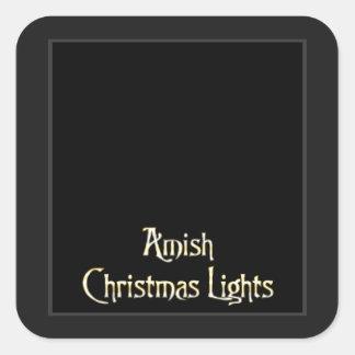Amish Christmas Lights Square Sticker