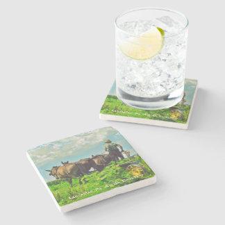Amish Coasters, Amish Farmer and Horses! Stone Beverage Coaster
