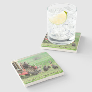 Amish Coasters, Chickens & Roosters Stone Coaster