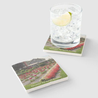 Amish Coasters Cockscomb Farm Flowers Stone Beverage Coaster