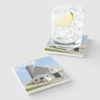 Amish Coasters, Farm House! Stone Coaster