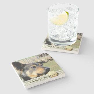 Amish Coasters, Farm Sheep Dog! Stone Coaster