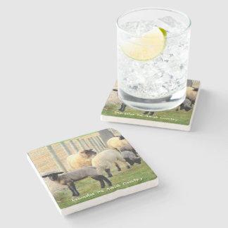 Amish Coasters, Sheep and Lambs! Stone Beverage Coaster