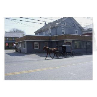 Amish Community Greeting Card