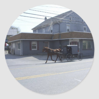 Amish Community Classic Round Sticker