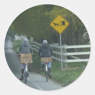 Amish Community Round Sticker