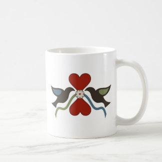 Amish Country Hearts and Doves Basic White Mug