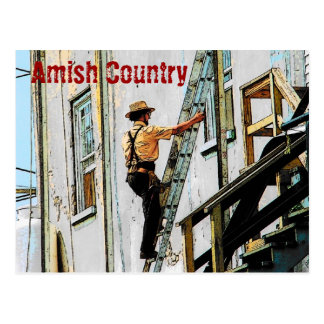 Amish Country Workman Postcard