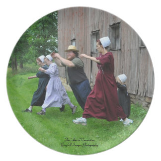 Amish Family Fun Plate
