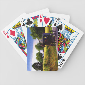 Amish Family Racing the Storm (simulated oil on ca Bicycle Playing Cards