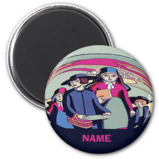Amish Farm Family, Add Name Magnet