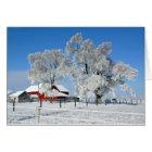 Amish Farm Ice Tree Card