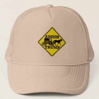 Amish For Trump Horse And Buggy Political Humor Trucker Hat