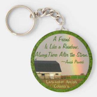 Amish Friendship proverb Keychain