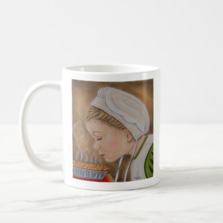 Amish Girl With A Pie Mug