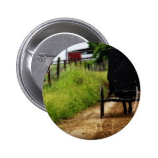 Amish Horse And Buggy Button