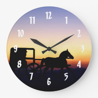 Amish Horse and Buggy Wall Clock