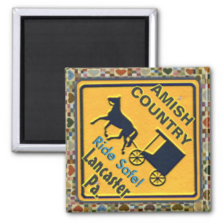 Amish Horse & Buggy Ride Safe, Magnet! Magnet