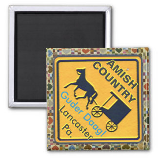 Amish Horse & Buggy Sign, Magnet!