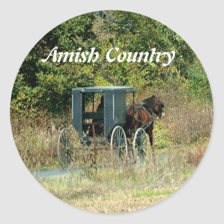 Amish Horse & Buggy Sticker