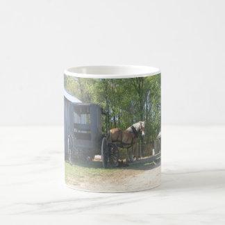 Amish Horse Classic White Coffee Mug