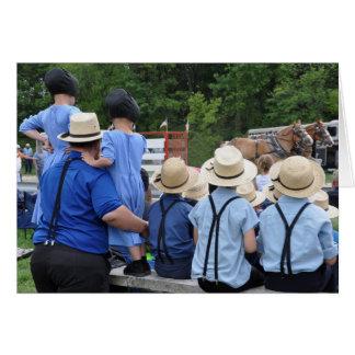 Amish Horse Pull Card