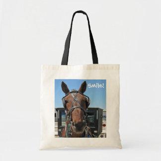Amish Horse Smile! Tote Bag