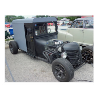 Amish Hot Rod Postcard