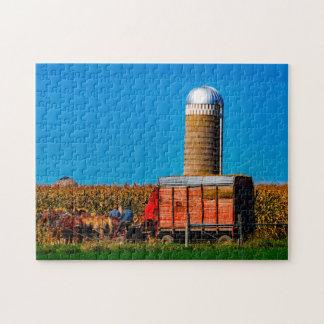 Amish  Indiana. Jigsaw Puzzle