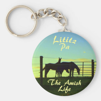Amish Life, Lititz Horses Ketchain Key Ring