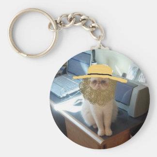 Amish Linus Basic Round Button Key Ring
