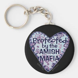 Amish Mafia Protection! Amish Country. Amish? Basic Round Button Key Ring