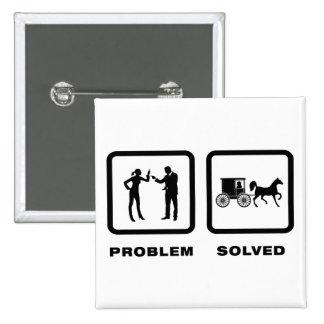 Amish Pinback Button