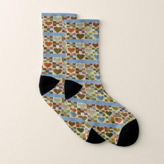 Amish quilt Hearts! Socks
