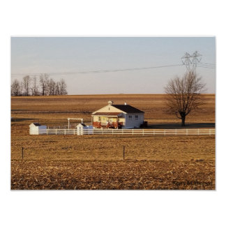 Amish Schoolhouse/Pennsylvania Poster