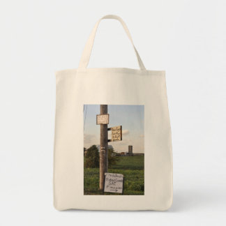Amish Signs Grocery Tote Bag