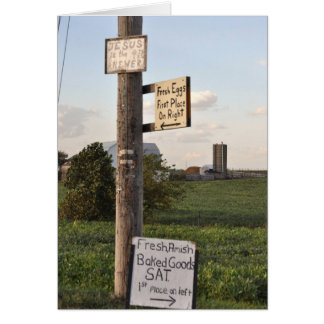 Amish Signs Note Card