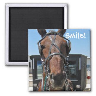 Amish Smile ;o) Square Magnet
