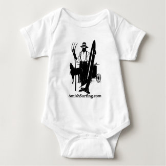 Amish Surfing and Skiing Baby Bodysuit