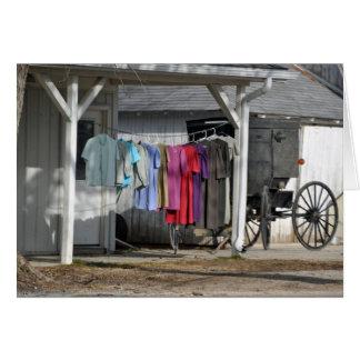 Amish Winter Laundry Card