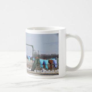 Amish Winter Laundry Basic White Mug