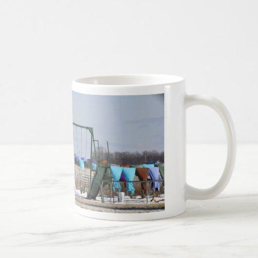 Amish Winter Laundry Coffee Mug