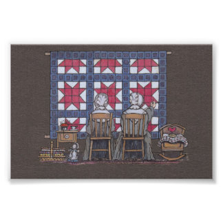 Amish Women Quilting Photograph