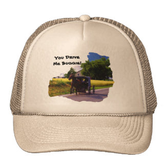 Amish You Drive Me Buggie Truckers Hat. Hat