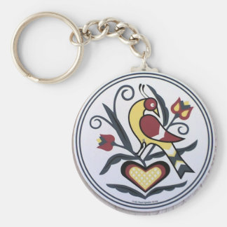 AmishHex-LoveBird Basic Round Button Key Ring