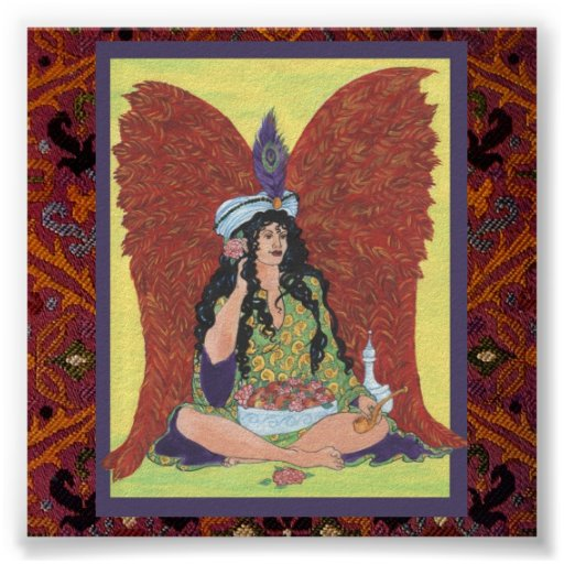 Amisi Angel on Moroccan Rug Print