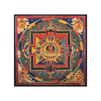 Amitayus mandala, 19th century Tibetan school Canvas Print