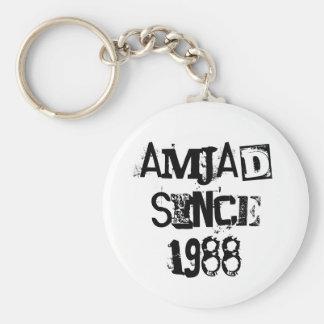 amjadsince1988 basic round button key ring