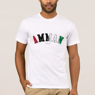 Amman in Jordan national flag colors T-Shirt