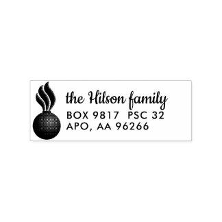 Ammo Custom Return Address Wood Stamp